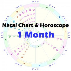 Natal Chart & Horoscope - 1 Month